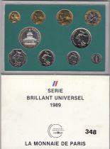 France Set of 10 coins Monnaie de Paris Proof set- AU