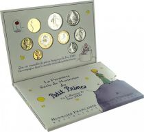 France Set of 9 coins in Francs - Petit Prince - Saint Exupéry - 2000