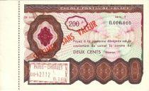 France Spécimen 200F , France Chèque Postal de Voyage