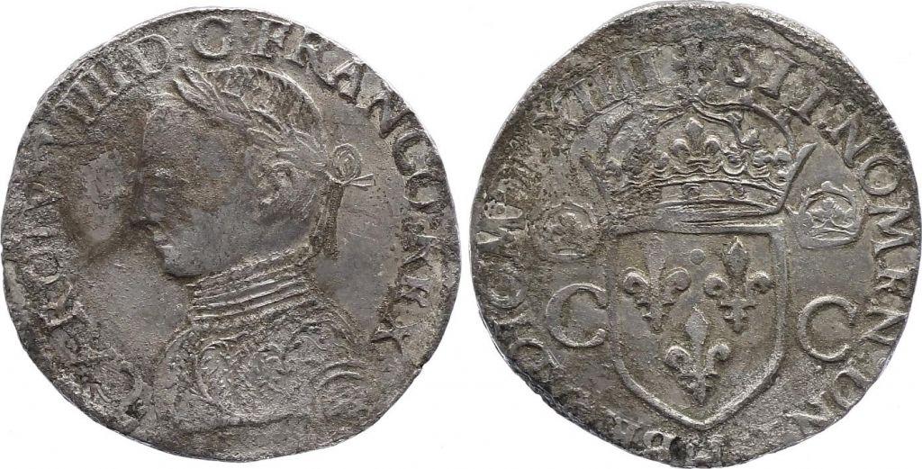France Teston -  Charles IX - 1564 La Rochelle - TB+ - Argent
