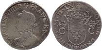 France Teston Charles IX - 1562  A Paris  - Argent - 2 ème type