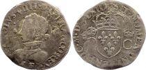France Teston Charles IX - 1562  E Tours - Silver  - 2 nd type