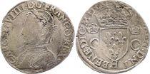France Teston Charles IX - 1562  H La Rrochelle - Argent - 2 ème type