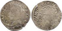 France Teston Charles IX - 1562  M Toulouse - Argent - 2 ème type - B +