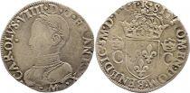 France Teston Charles IX - 1562  M Toulouse - Argent - 2 ème type - TB +