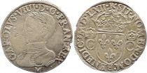 France Teston Charles IX - 1562  M Toulouse - Argent - 2 ème type - TTB
