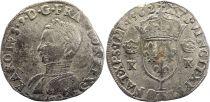 France Teston Charles IX - 1562 L Bayonne  - Argent - 4 ème type - TB+