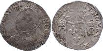 France Teston Charles IX - 1562 La Rochelle - 2ème type - TB - Argent