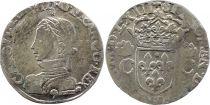France Teston Charles IX - 1563 - 9 Rennes - Argent - 2 ème type - TB+