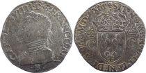 France Teston Charles IX - 1563 - B Rouen - Argent - 2 ème type - TB