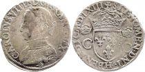 France Teston Charles IX - 1563  H La Rrochelle - Argent - 2 ème type - TB +