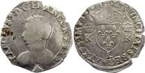 France Teston Charles IX - 1563  L Bayonne  - Silver  - 4th type - Fine - 2nd ex
