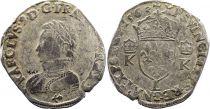 France Teston Charles IX - 1563  L Bayonne  - Silver  - 4th type - Fine - 3th ex