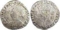 France Teston Charles IX - 1563  L Bayonne  - Silver  - 4th type - Fine