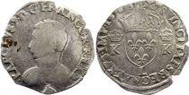 France Teston Charles IX - 1563 L Bayonne  - Argent - 4 ème type - TB - 2nd ex