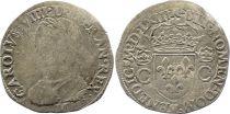 France Teston Charles IX - 1563 M Toulouse - Argent - 2 ème type - B