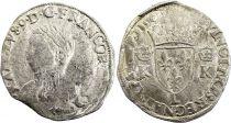 France Teston Charles IX - 1565  L Bayonne  - Silver  - 4th type - Fine - 2nd ex