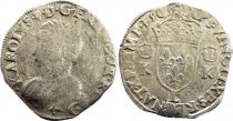 France Teston Charles IX - 1565  L Bayonne  - Silver  - 4th type - Fine