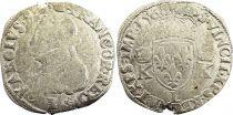 France Teston Charles IX - 1568  L Bayonne  - Silver  - 4th type - Fine - 2nd ex