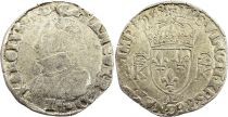 France Teston Charles IX - 1568 L Bayonne  - Argent - 4 ème type - TB