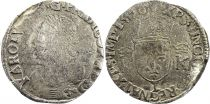 France Teston Charles IX - 1570  L Bayonne  - Silver  - 4th type - Fine - a.F