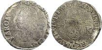 France Teston Charles IX - 1570 L Bayonne  - Argent - 4 ème type - p.TB