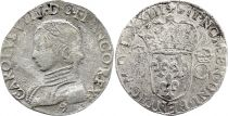 France Teston Charles IX - 1573 - 9 Rennes  - Silver  - 2 nd type - Fine