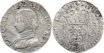 France Teston Charles IX - 1573 - 9 Rennes - Argent - 2 ème type - TB