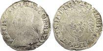 France Teston Charles IX - 1573  L Bayonne  - Silver  - 4th type - Fine - a.F