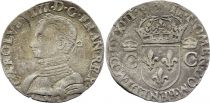 France Teston Charles IX - 1573 M Toulouse  - Silver  - 2nd type - F to VF