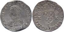France Teston Charles IX - L Bayonne 1565 - Silver