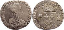 France Teston François II au nom de Henri II - 1559 H La Rochelle - TB+ - Argent - 3ème  type