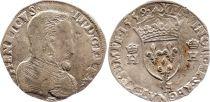 France Teston François II with portrait of Henri II - 1559 H La Rochelle - F to VF - Silver - 1st Type