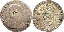 France Teston François II with portrait of Henri II - 1559 H La Rochelle - G +  - Silver - 1st Type - 2nd ex