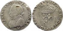 France Teston Henri III au nom de Charles IX - 1575 H La Rochelle - Argent - 11 ème type - TB+