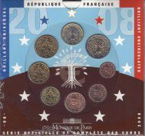 France UNC Set France 2008 - 8 euro coins