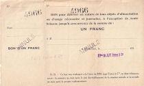 Francia 1 F Beaucourt Annulé