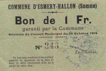 Francia 1 F Esmery-Hallon n° 343