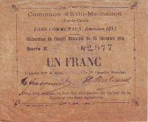 Francia 1 F Evin-Malmaison - 30/12/1914