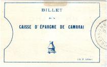 Francia 1 Franc Cambrai Caisse d´Epargne