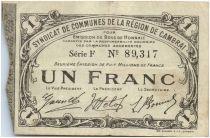 Francia 1 Franc Cambrai City