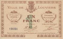 Francia 1 Franc Louviers City - 1916
