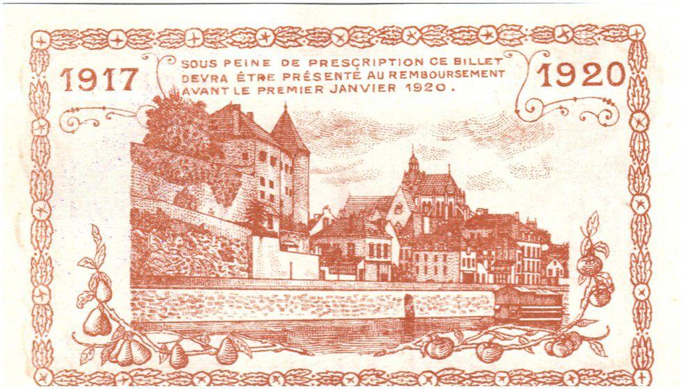 Francia 1 Franc Mayenne City - 1917