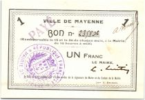 Francia 1 Franc Mayenne City
