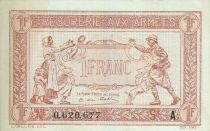 Francia 1 Franc Woman and soldier -  1917 A  0.620.677