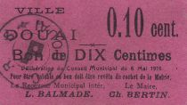 Francia 10 centimes Douai 60x35 mm