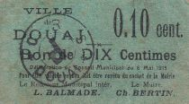 Francia 10 centimes Douai City - 1915