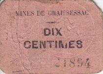 Francia 10 centimes Graissessac Mines de Graissessac