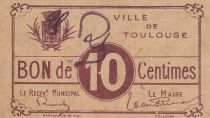 Francia 10 centimes Toulouse City