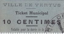 Francia 10 centimes Vertus Ticket Municipal